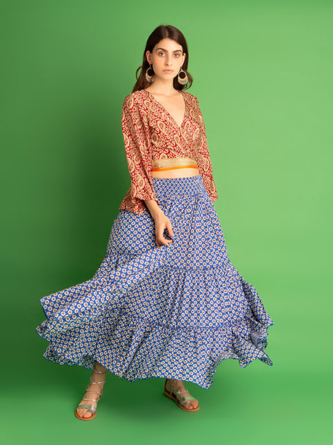 Kusama skirt floral