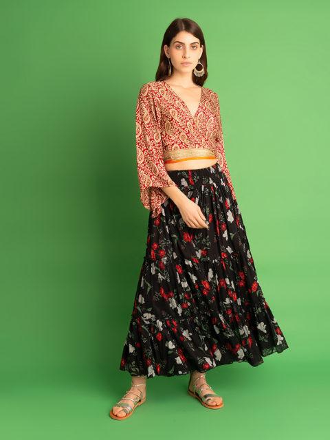 Kusama skirt black